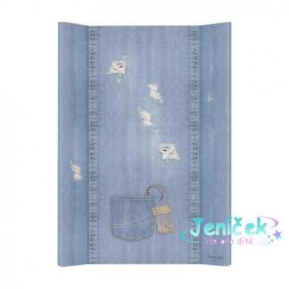 Podložka přebalovací 2-hranná MDF 70cm Denim Style Shabby blue Ceba