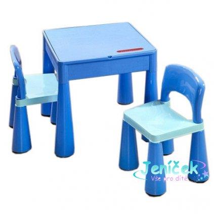 Tega Baby TEGA Sada nábytku pro děti - stoleček a 2 židličky - modrá
