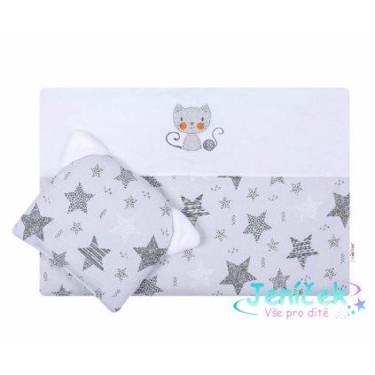 Dětská sada do kočárku Baby Nellys ® STARMIX, bílo-šedá