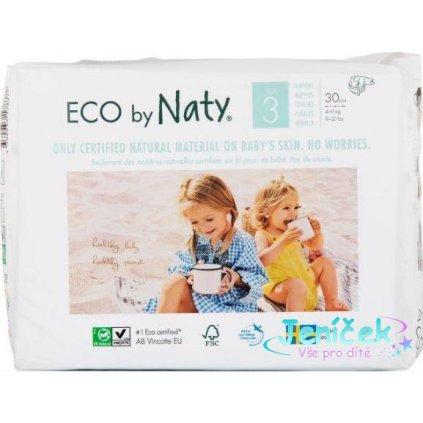Plenky jednorázové Babycare 3 Midi 4-9kg 30ks Naty Nature