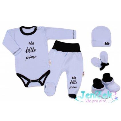 Baby Nellys 5-ti dílná soupravička do porodnice Little Prince, vel. 62 - modrá