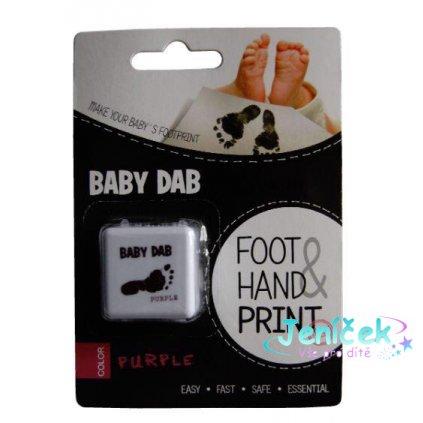 BABY DAB Barva na dětské otisky - fialová