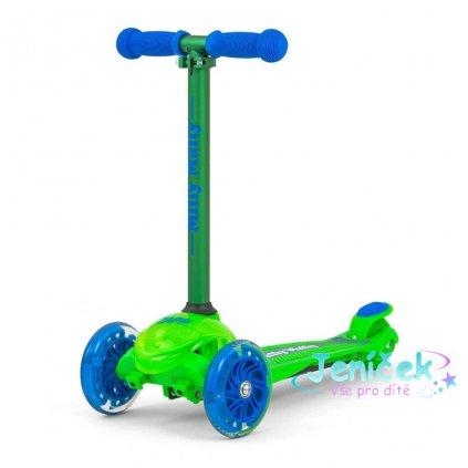 Dětská koloběžka Milly Mally Scooter Zapp green
