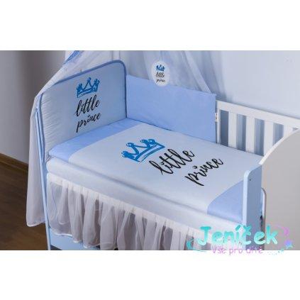 Baby Nellys Mantinel 360cm s povlečením Little Prince - modrý