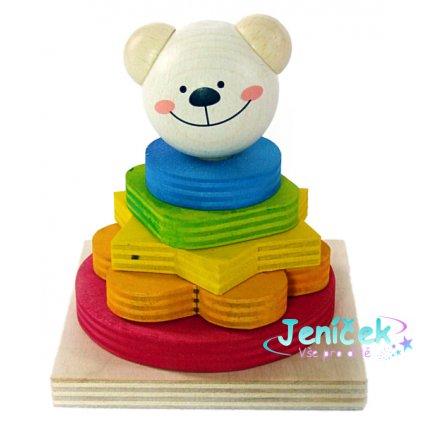 Hess Nasazování barevných tvarů medvídek Timi