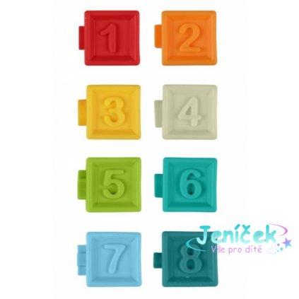AKUKU Edukační barevné kostky 8ks v krabičce