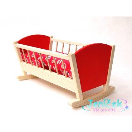 Dřevěná Kolébka pro panenky barevná