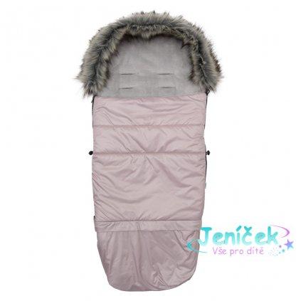 Dětský fusák New Baby 3v1 s kožíškem růžový