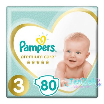 PAMPERS Premium Care 3 MIDI 80 ks (6-10 kg) JUMBO PACK- jednorázové pleny