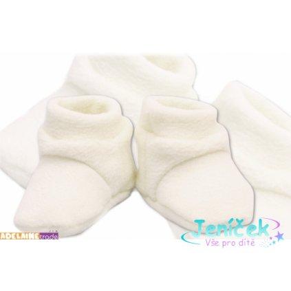 TERJAN Botičky/ponožtičky POLAR - bílé