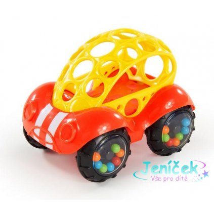 OBALL Hračka autíčko Rattle & Roll™, červené, 3m+