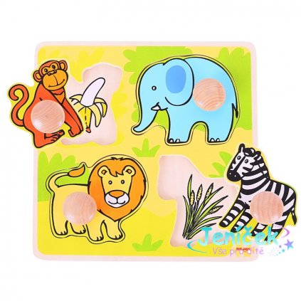 Bigjigs Toys Vkládací puzzle safari v