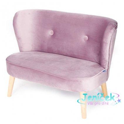 Dětská Retro pohovka sofa Drewex tmavě růžová