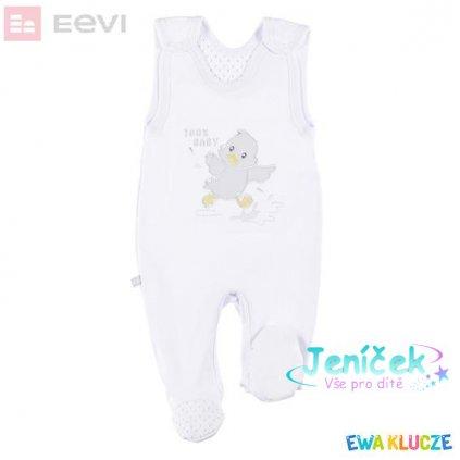 EEVI Kojeneký dupačky Newborn bílé