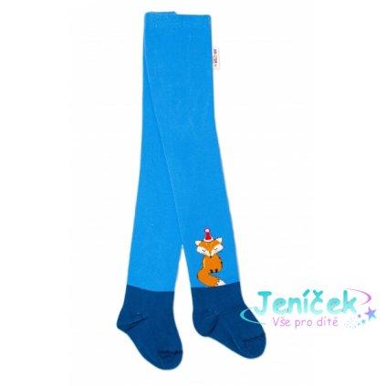 Baby Nellys Dětské punčocháče bavlněné, Fox, jeans-modrá, 1ks