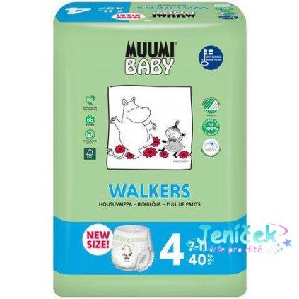 MUUMI Baby Walkers Maxi size 4 (7-11 kg) 40 ks – jednorázové pleny