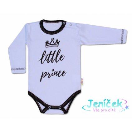 Baby Nellys Body dlouhý rukáv, Little Prince - modré