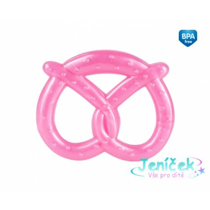 Canpol babies Elastické kousátko Preclíček - růžové