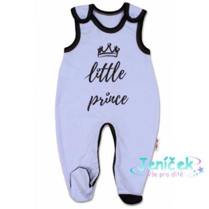 Baby Nellys Kojenecké bavlněné dupačky, Little Prince - modré