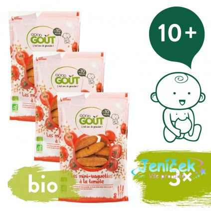 3x Good Gout Mini bagetky s rajčátky (70 g)
