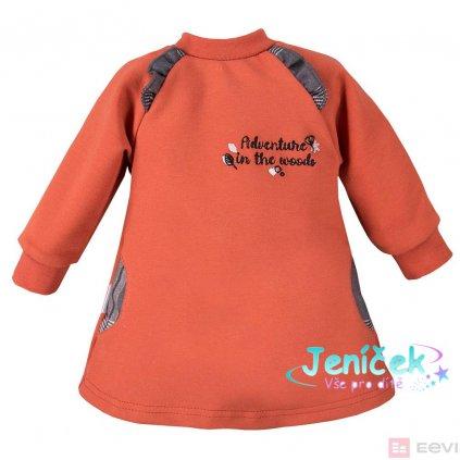 Eevi tunika s dlouhým rukávem Adventure - oranžová