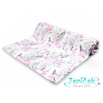 Lagarto Verde Bambusová plenka - muchláček Plameňák růžová/bílá