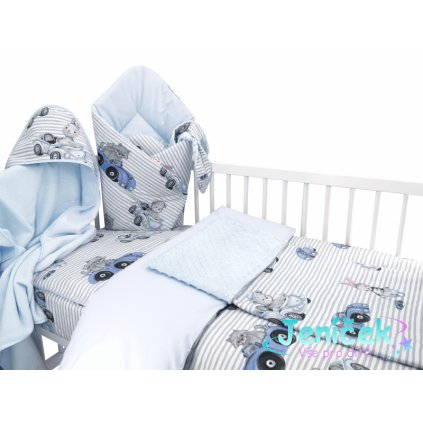 Baby Nellys 6-ti dílná výhod. sada s dárkem pro miminko, 120 x 90 - Baby Car, modrá