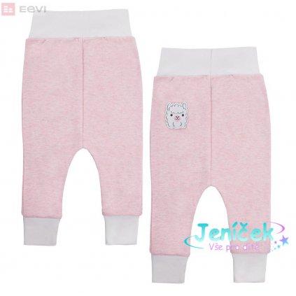 EEVI Kojenecké tepláčky Baby Love růžové