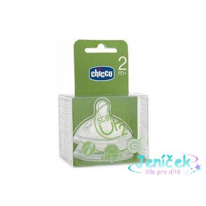 CHICCO Dudlík Step Up 2 střední průtok 2m+ 2 ks