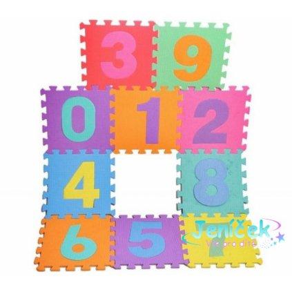 Tulimi Dětské pěnové puzzle 29 x 29 cm, Číslice - barevné