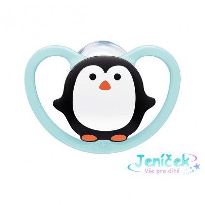 Šidítko Space NUk 6-18m BOX penguin