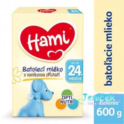 HAMI 24+ s příchutí vanilky (600 g) – kojenecké mléko