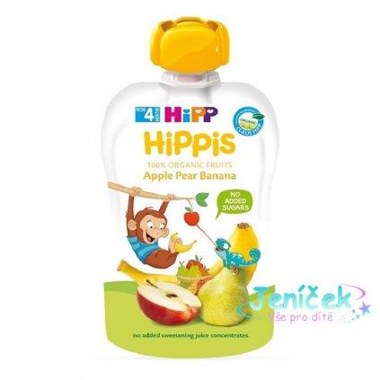 HiPP HiPPiS BIO 100% ovoce Jablko-Hruška-Banán 100 g – ovocný příkrm