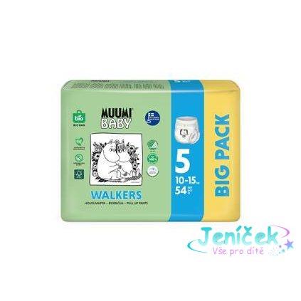 Kalhotky plenkové jednorázové 5 Maxi + 10-15kg 54ks Baby Muumi