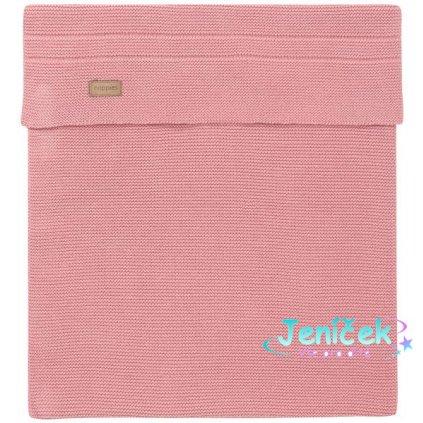 Deka U Baby bed knit Nola 120x120 cm Old Pink