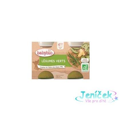BABYBIO Příkrm zelená zelenina (2x 130 g)