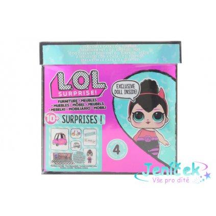 L.O.L. Surprise! Nábytek s panenkou - Cool autoservis & Spice TV