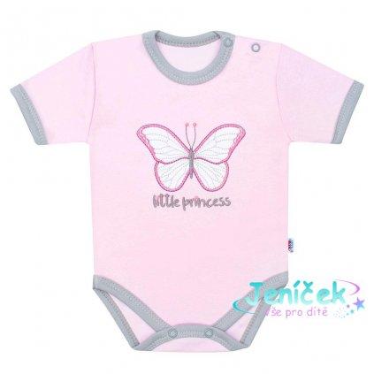 Kojenecké bavlněné body s krátkým rukávem New Baby Little Princess
