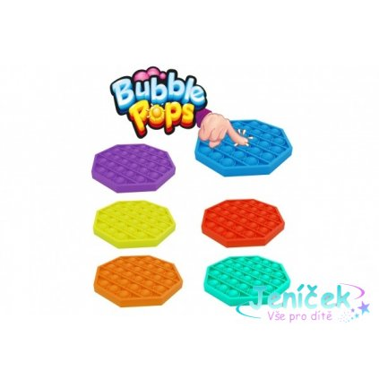 Bubble pops - Praskající bubliny silikon antistresová spol. hra oranžová