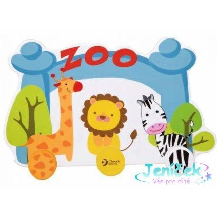 Classic world Dřevěný dětský věšák - Zoo