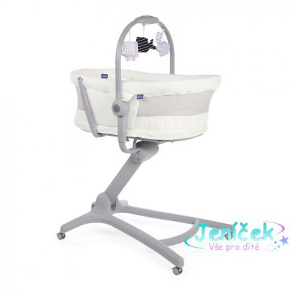 CHICCO Postýlka/lehátko/židlička Chicco Baby Hug 4v1 - White Snow