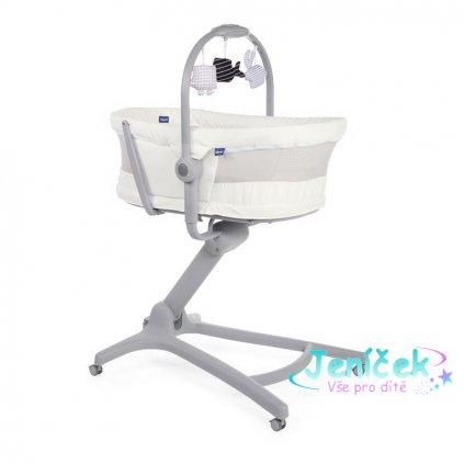 CHICCO Postýlka/lehátko/židlička Chicco Baby Hug Air 4v1 White Snow