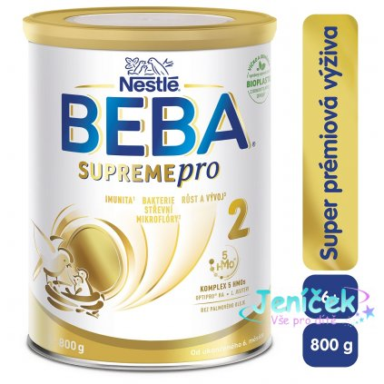 BEBA SUPREMEpro 2, mléčná kojenecká výživa 800 g