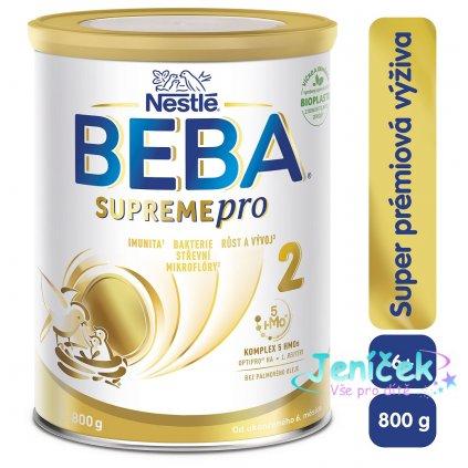 BEBA SUPREMEpro 2, Mléčná pokračovací výživa 800 g