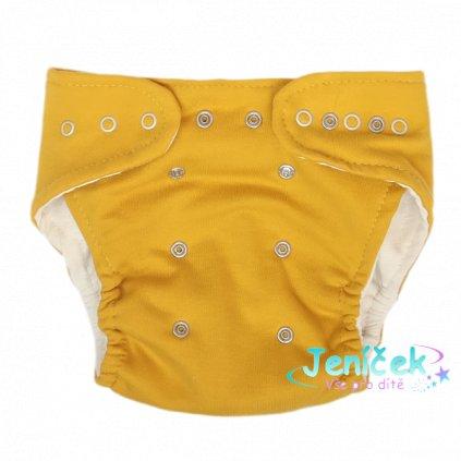 Mamatti Látková plenka EKO sada - kalhotky + 2 x plenka, Mýval, vel. 3 - 8 kg hořčicová