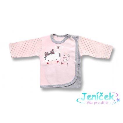 Laf bavlněná košilka cat růžová