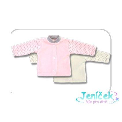 Laf velurový kabátek cat růžová