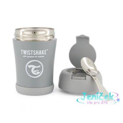 Termoska Twistshake na jídlo, 350 ml, šedá