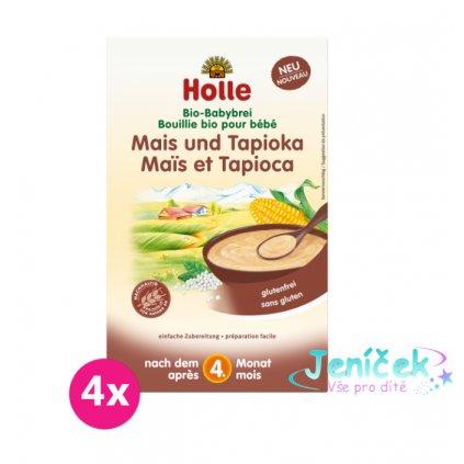 4x HOLLE Organická kukuřičná kaše s tapiokou - 250 g