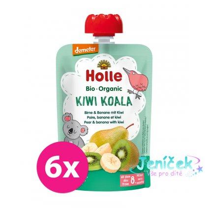 6x HOLLE Kiwi Koala Bio pyré hruška banán kiwi 100 g (8+)